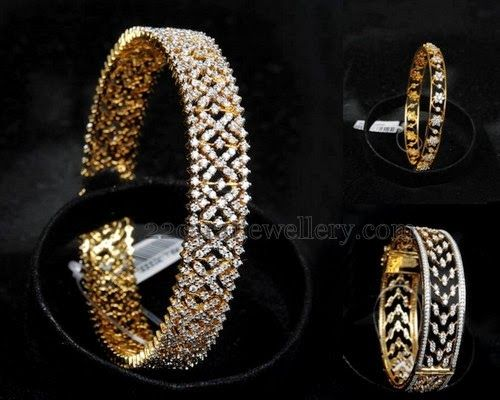 Jewellery Designs: Diamond Bangles from Malabargold