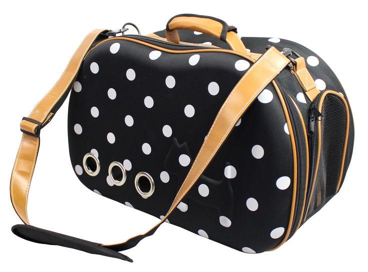 Polka Dot Collapsible Military Grade Designer Pet Carrier