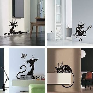 Tina's handicraft : 8 cat shape for wall decoration