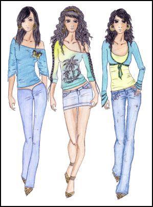fashion clothes sketches | Fashion Style
