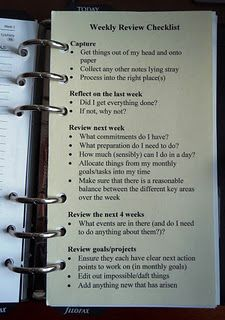 I need this for my planner. A good idea to keep track of things to do weekly (like blog, journal, check in on how I'm managing things, etc.)