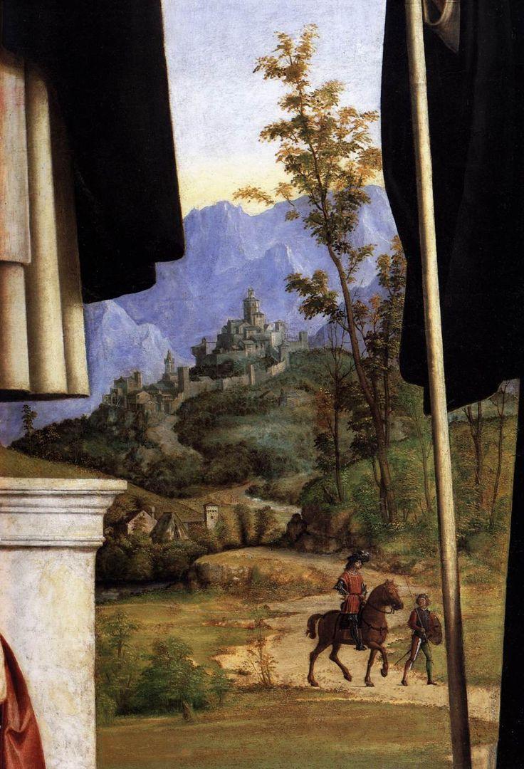 Cima da Conegliano, Giovanni Battista Cima - Saint Peter Martyr with Saint Nicholas of Bari, Saint Benedict and an Angel Musician. Detail. 1504