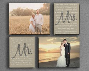 Wedding Vow Canvas Art by DesignerCanvases on Etsy