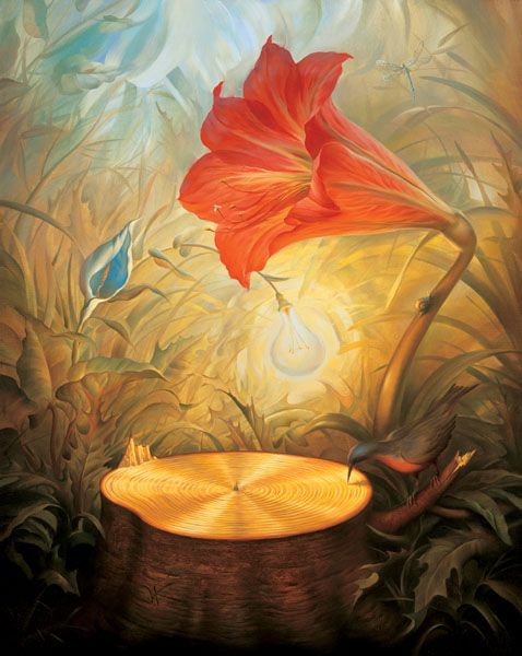 Vladimir Kush - MUSIC OF THE WOODS - Available at Paragon Fine Art - www.paragonfineart.com