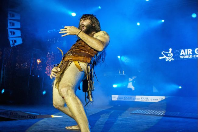 Justin Howard, also known as Nordic Thunder, has won the 17th annual Air Guitar World Championship in northern Finland