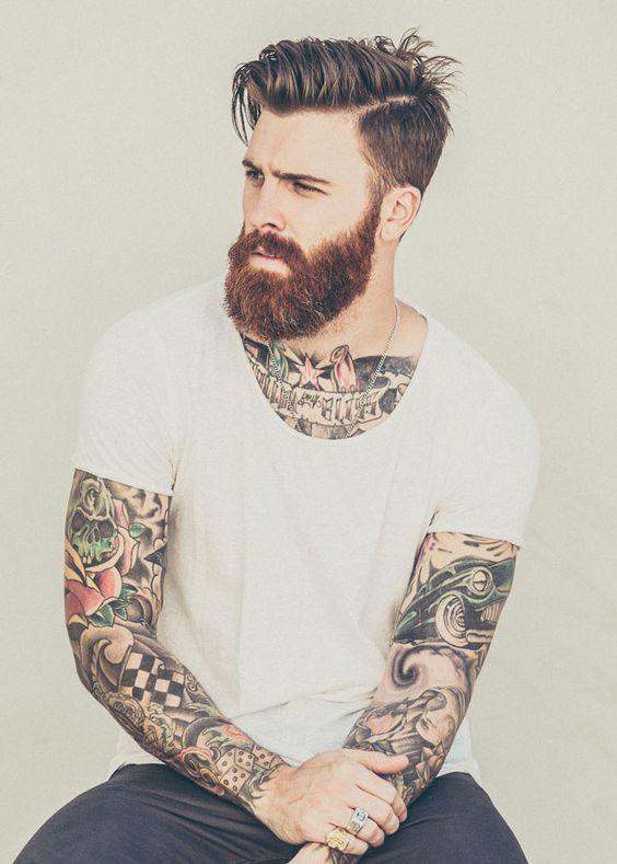 Cool Beard And Hair Style