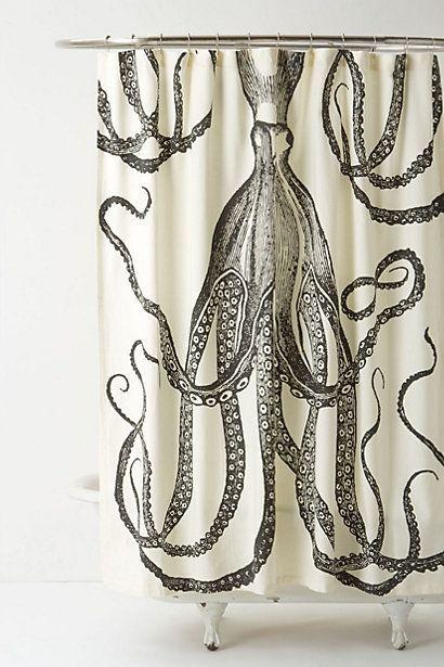 Octopus Garden Shower Curtain - #anthroregistry