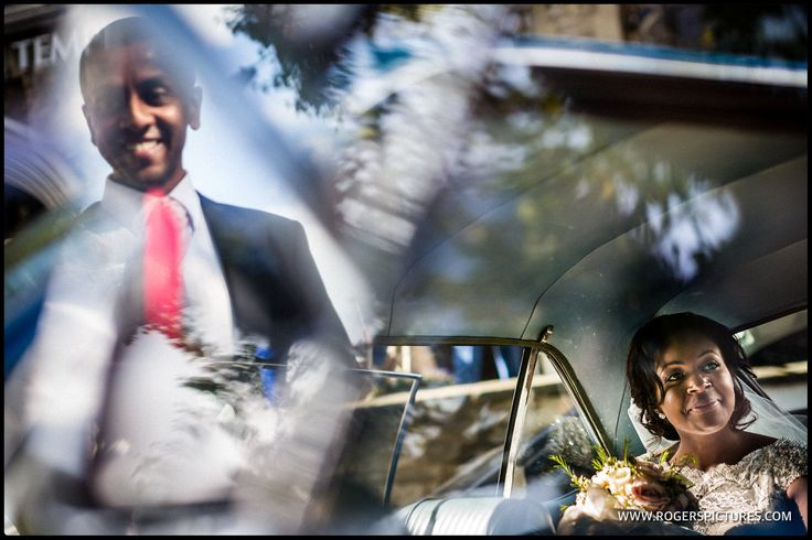 Looking for something different with the Bride and Groom in the wedding car -