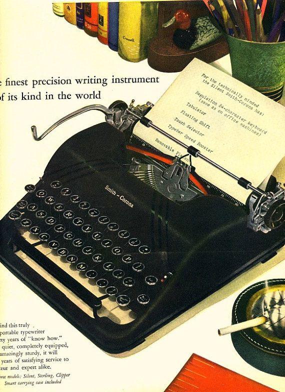 vintage black smith corona typewriter 1950