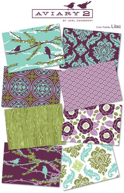 Joel Dewberry~ nursery fabrics. love them all but the birds...so cute for a little girls room :)