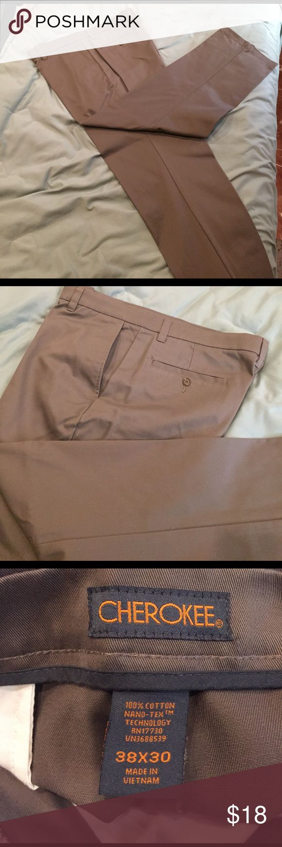 Casual men pants Wonderful men's casual pants beautiful condition taupe(lt brown) color Cherokee Pants Chinos & Khakis