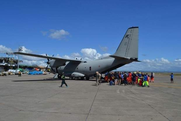 An Alenia Aermacchi C-27J Spartan on a mission in the Philippines. Makers of the C-27J and C295 are making competing claims over the planes' capabilities. (Alenia Aermacchi)
