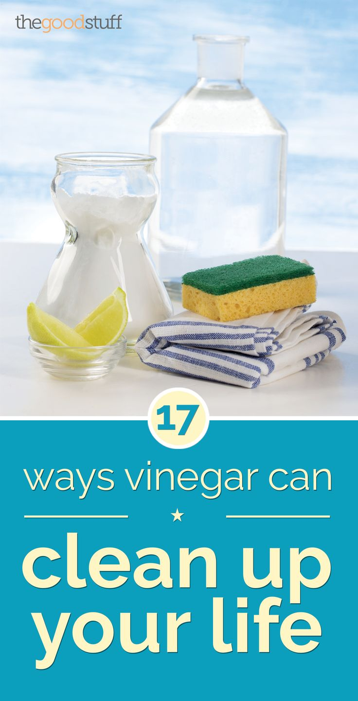 17 Ways Vinegar Can Clean Up Your Life - thegoodstuff