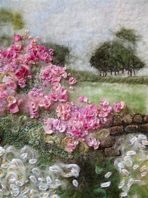 Embellished Felt Garden Wall ... this is one of the most beautiful pieces! I aspire to this kind of work. :)