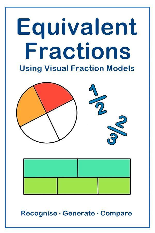 Fractions Worksheets Bundle 3rd 4th Grade Using Equivalent Fractions Fractions Worksheets Fractions Equivalent Fractions