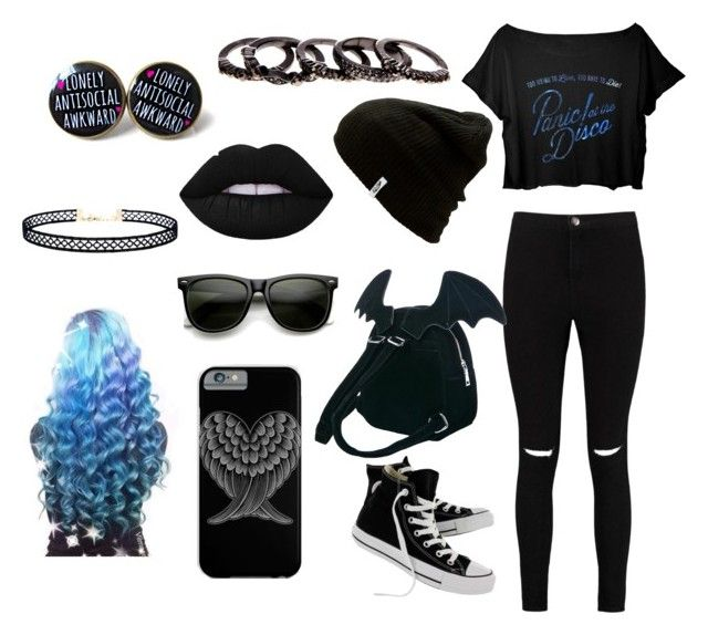 """IDK"" by broken-memories-2137 on Polyvore featuring Boohoo, Converse, Sugarbaby, Vans, ZeroUV, Free Press and LULUS"