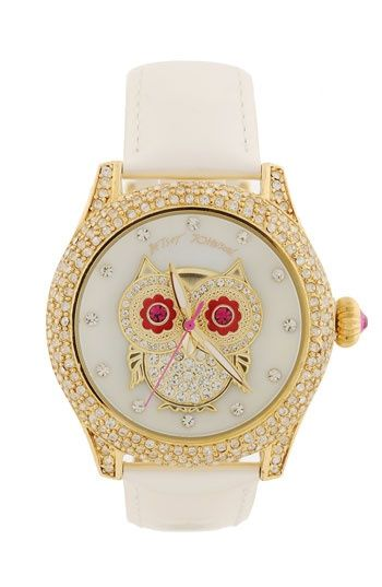 Betsy Johnson owl watch!!Fashion, Betsy Johnson, Bling Time, Owls Watches, Johnson Bling, Jewelry, Accessories, Betsey Johnson, Bling Bling