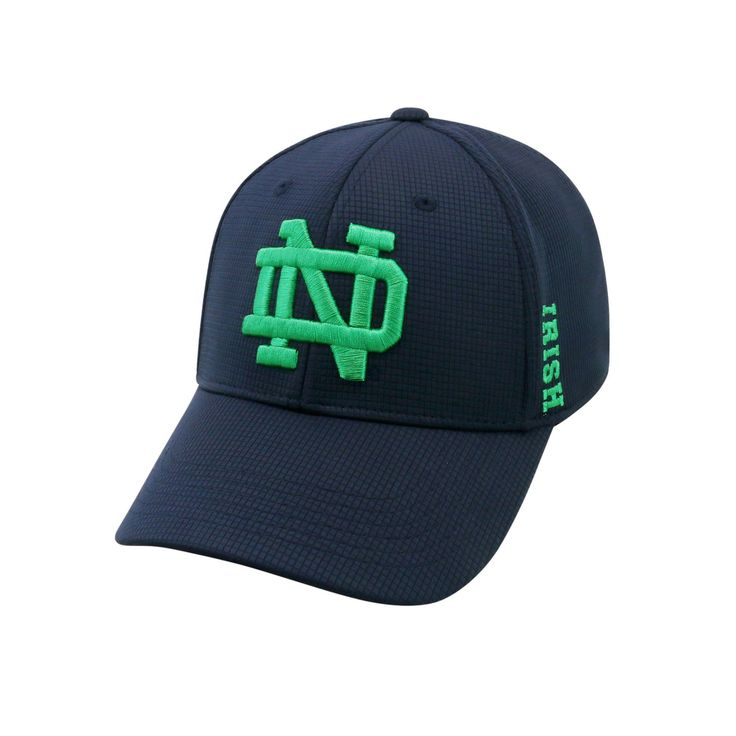 Adult Notre Dame Fighting Irish Booster Plus Memory-Fit Cap, Blue (Navy)