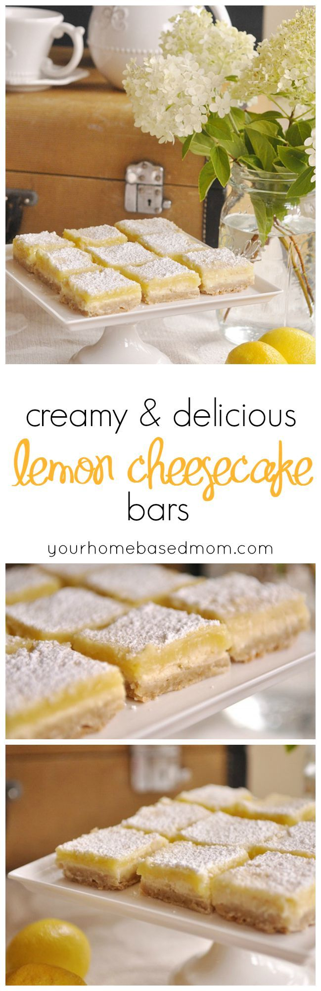 These lemon cheesecake bars are the most delicious and creamy lemon bars you will taste.