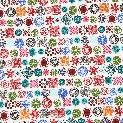 Flanella motivi ornamentali 3 - Cotone - mix di colori