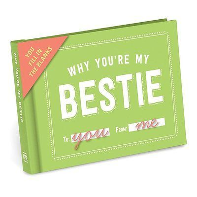 Why You?re My Bestie Best Friend Fill In The Blanks Journal Book Gift Present