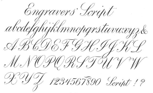 old handwriting styles english | In the following illustration, you will see strokes and nib action ...