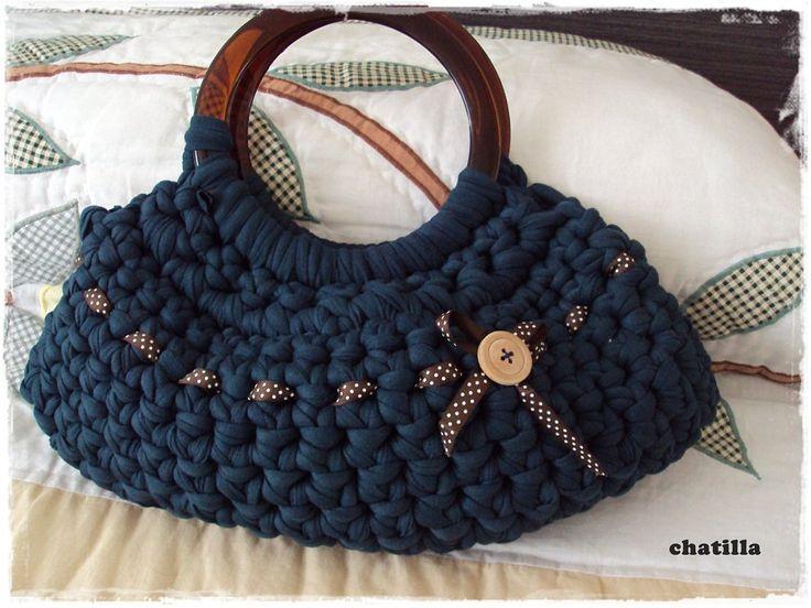 F d el bolso de trapillo de chatilla trapillo for Bolso crochet trapillo