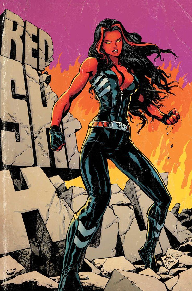 The Red She-Hulk by Steve Lightle.