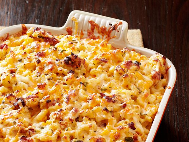 Bobby Flay's Macaroni and Cheese Carbonara  In Bobby's unique take on macaroni and cheese, pancetta and pasta are bound together with eggs and an array of cheeses.  Read more at: http://www.foodnetwork.com/recipes-and-cooking/macaroni-and-cheese/pictures/page-18.html?soc=site_20131023_13467964&oc=linkback