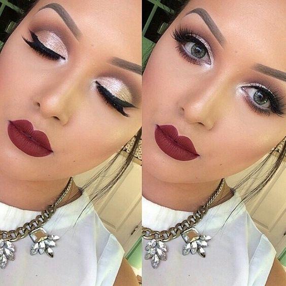 Maquillaje para navidad y año nuevo 201 2017  http://cursodeorganizaciondelhogar.com/peinado-maquilla…idad-y-ano-nuevo/