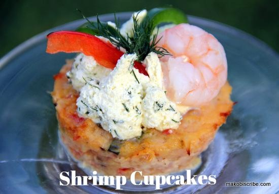 Low Calorie Shrimp Cupcakes With Lime Dill Frosting is a unique seafood  appetizer.http://makobiscribe.com/low-calorie-shrimp-cupcakes-with-lime-dill-frosting/
