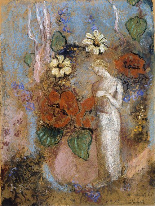 Odilon Redon, Pandora n.d. ══════════════════════  BIJOUX  DE GABY-FEERIE   ☞ http://gabyfeeriefr.tumblr.com/ ✏✏✏✏✏✏✏✏✏✏✏✏✏✏✏✏ ARTS ET PEINTURES - ARTS AND PAINTINGS  ☞ https://fr.pinterest.com/JeanfbJf/artistes-peintres-painters/ ══════════════════════