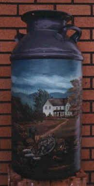 Milk Can With Heritage Home