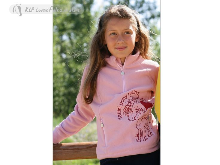 ON SALE!    Tattini Piave Girl's Fleece Sweater - In soft and warm anti-pilling microfl eece,with fl at lock seams, zipped neck opening,two front pockets and customized pullers.Decorated by equestrian embroidery andsmall hearts in colour contrast.