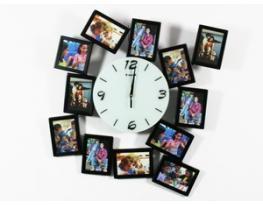 Часы настенные Яркие воспоминания, часы фигурные, часы с фото, фоторамка с часами,