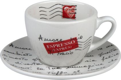 Amore Mio Coffee Cups and Saucers, Set of 4 - $25.20
