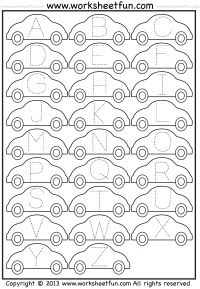 229 best preschool worksheets images on pinterest free printable letter tracing worksheet car spiritdancerdesigns Images