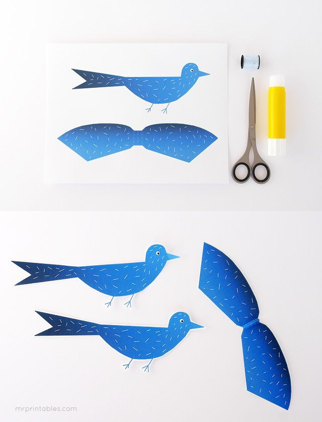 363 best images about crafts for kids on pinterest for Papercraft bird template