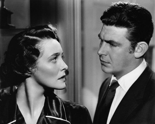 Andy Griffith and Patricia Neal - A Face in the Crowd. OK, not a beauty photo BUT, look at the perfect line of her jaw and her neck. Only the Hepburn ladies compare, I think.
