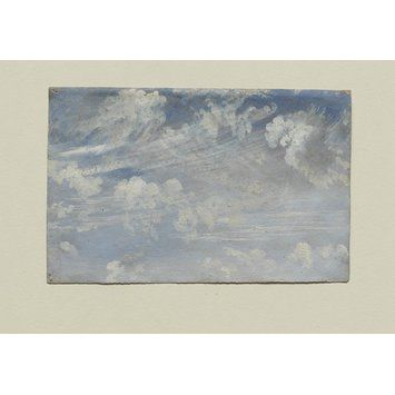 Perfect Study Of Cirrus Clouds (Oil Painting)