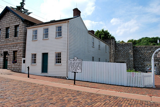 Mark Twain's boyhood home in Hannibal, Missouri; I've been to Hannibal and had a great time