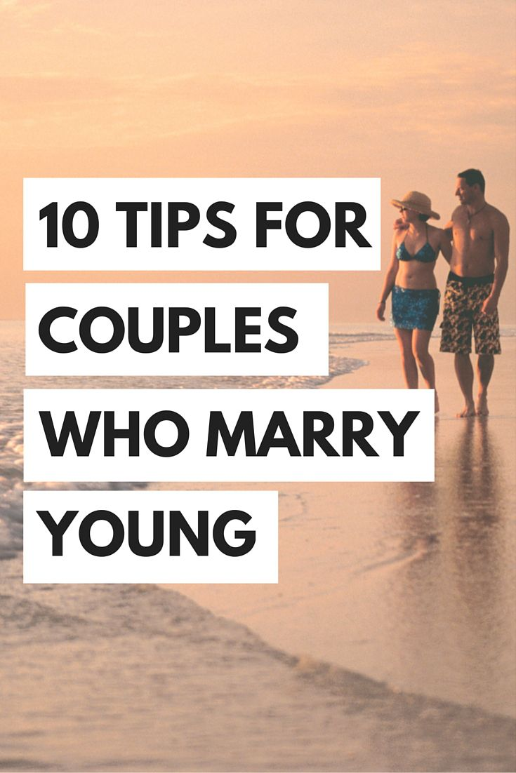 10 tips for couples who marry young couples wedding and