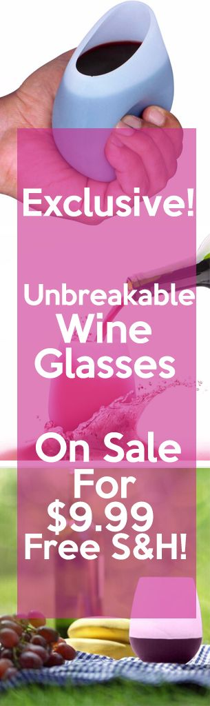 Summer is here and so are our Unbreakable Wine Glasses!  Enjoy wine by the pool, at a BBQ, or camping!  Never worry about broken glass again!  The Unbreakable Wine Glasses are on sale for 50% off right now! Get them before....