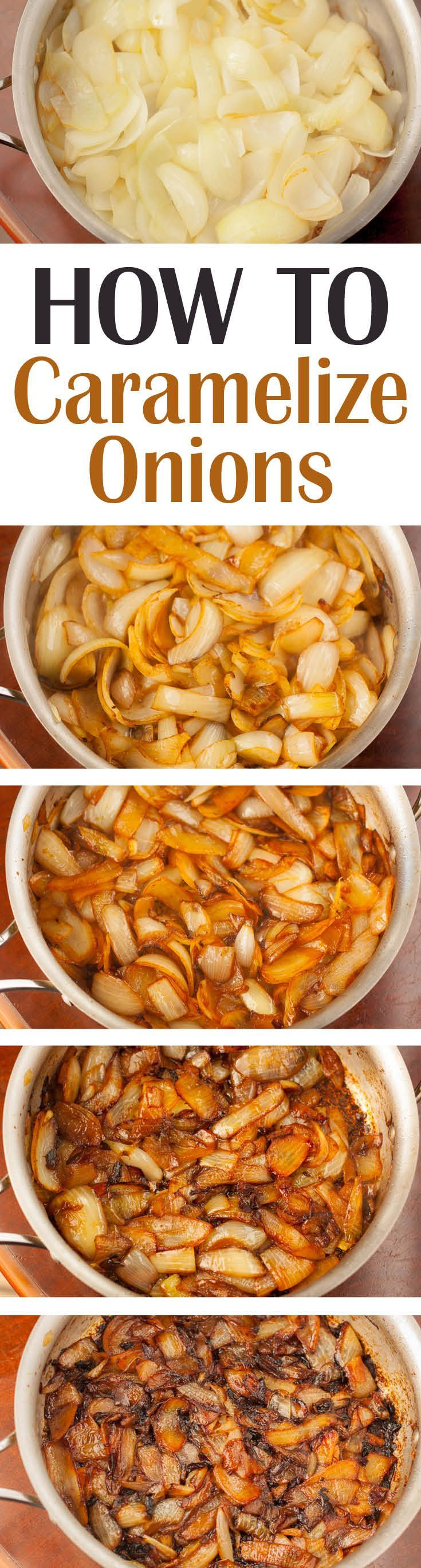 Learn how to caramelize onions from Plating Pixels. An Ultimate Guide to Caramelized Onions. Science of why they become sweet and browned. Easy detailed step-by-step photos and instructions for perfect caramelized onions. - www.platingpixels.com