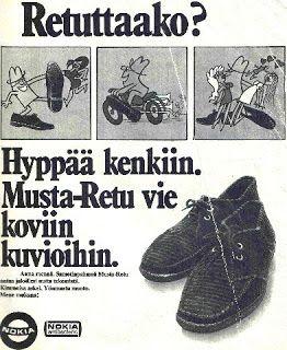 Näitä nuorison hittikenkiä Retuja valmistettiin vuodesta 1969 vuoteen 1973, jolloin niiden valmistaminen käsin loppui.