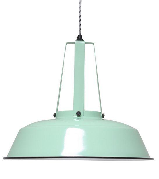 """HK-living Hanglamp mint groen metaal Ø45cm, Industriële lamp """"Workshop"""" L"""