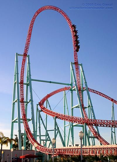 Knott's Berry Farm, the Xcelerator - every ride at 5 American theme parks, this is by far the most insane ride of them all