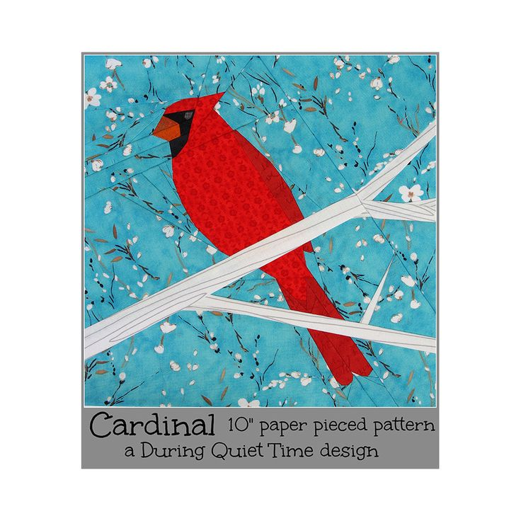 Cardinal Paper Pieced Pattern
