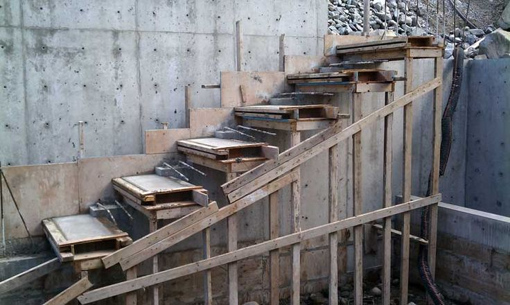 Best Cantilevered Concrete Stair Formwork Overall At The Building Site Pinterest Concrete 400 x 300