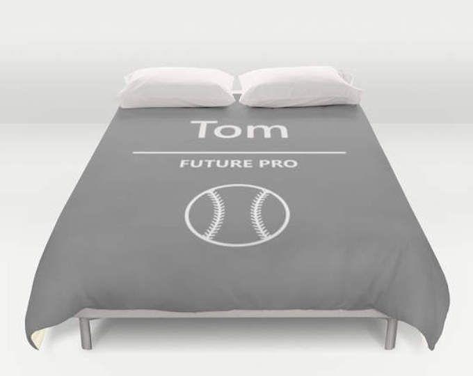 Sports Decor For Boys Room Baseball Bedding Duvet Cover Twin Bed